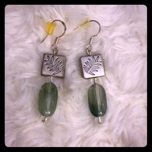 Artisan Crafted Glass and Silver Bead Earrings